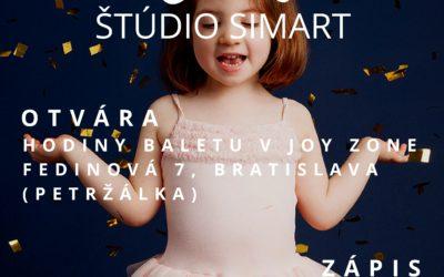Od januára 2019 otvárame hodiny baletu v Joy Zone v Petržalke.